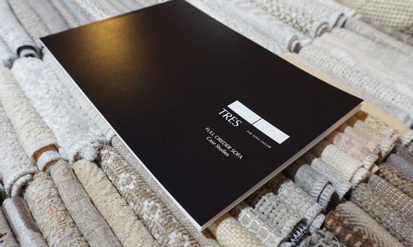 特注ソファの納品事例を集めた小冊子を発行しました